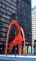 Alexander Calder: Stabile, Federal Bldg. Plaza, Chicago.  Photo '76.