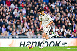 Marco Asensio Willemsen of Real Madrid in action during the La Liga 2018-19 match between Real Madrid and Real Valladolid at Estadio Santiago Bernabeu on November 03 2018 in Madrid, Spain. Photo by Diego Souto / Power Sport Images