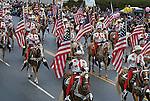 Cowboys & American Flags, Rosebowl New Year's Parade, Pasadena, California