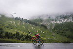 Dylan Teuns (BEL) Bahrain Victorious attacks during Stage 8 of the 2021 Tour de France, running 150.8km from Oyonnax to Le Grand-Bornand, France. 3rd July 2021.  <br /> Picture: A.S.O./Pauline Ballet | Cyclefile<br /> <br /> All photos usage must carry mandatory copyright credit (© Cyclefile | A.S.O./Pauline Ballet)