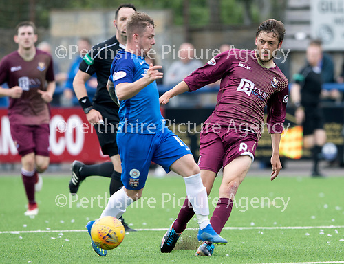 Montrose v St Johnstone…21.07.18…  Links Park    League Cup<br />Murray Davidson and Danny Cavanagh<br />Picture by Graeme Hart. <br />Copyright Perthshire Picture Agency<br />Tel: 01738 623350  Mobile: 07990 594431
