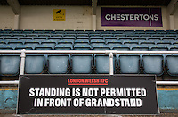 General view of the clubs home London Welsh Rugby Stadium at Old Deer Park, Richmond, England on 9 September 2016. Photo by Andy Rowland.