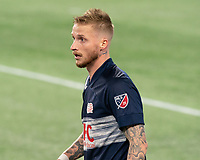 FOXBOROUGH, MA - OCTOBER 19: Alexander Buttner #28 of New England Revolution during a game between Philadelphia Union and New England Revolution at Gillette on October 19, 2020 in Foxborough, Massachusetts.