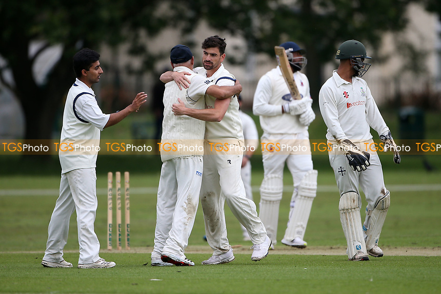 M Westfield of Hornchurch is bowled out by J Ellis-Grewal of Wanstead during Hornchurch CC vs Wanstead and Snaresbrook CC, Hamro Foundation Essex League Cricket at Harrow Lodge Park on 10th July 2021