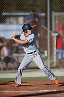 Nolan Schanuel (14) during the WWBA World Championship at the Roger Dean Complex on October 13, 2019 in Jupiter, Florida.  Nolan Schanuel attends Park Vista Community High School in Boynton Beach, FL and is committed to Florida Atlantic.  (Mike Janes/Four Seam Images)