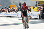 Egan Bernal (Col) Team Ineos crosses the finish line in 5th place atop the Col du Tourmalet at the end of Stage 14 of the 2019 Tour de France running 117.5km from Tarbes to Tourmalet Bareges, France. 20th July 2019.<br /> Picture: Colin Flockton | Cyclefile<br /> All photos usage must carry mandatory copyright credit (© Cyclefile | Colin Flockton)