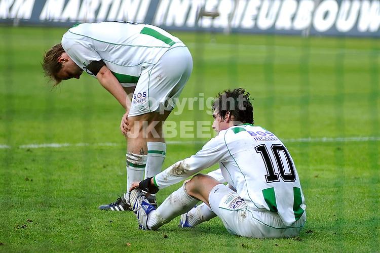 voetbal fc groningen - nac erediivisie seizoen 2007-2008 06-04-2008 .stenman en lovre balen.fotograaf Jan Kanning