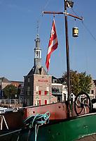 Nederland  Alkmaar- September 2020 .   Het Havengebouw ( de vroegere Accijnstoren ) In Alkmaar. Foto : ANP/ Hollandse Hoogte / Berlinda van Dam