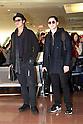 Brad Pitt and Logan Lerman Arrive in Japan