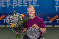 Amstelveen, Netherlands, 7 Augustus, 2021 National Tennis Center, NTC, NKR, National  Wheelchair Tennis Championships, Junior boys single final :  Winner Robin Groenewoud (NED)<br /> Photo: Henk Koster/tennisimages.com