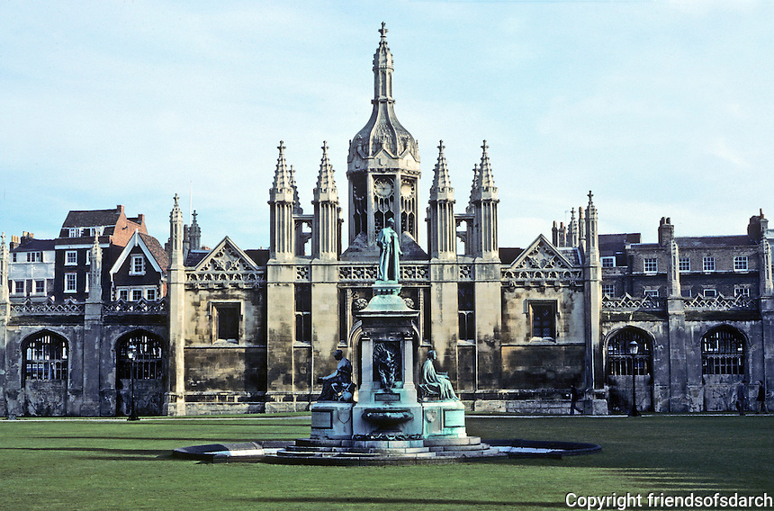 Cambridge: King's College, entrance to Main Quad. Early 19th Century Gothic Revival. Photo '82.