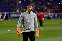 Harrison, NJ - Tuesday April 10, 2018: Luis Robles prior to leg two of a  CONCACAF Champions League semi-final match between the New York Red Bulls and C. D. Guadalajara at Red Bull Arena. C. D. Guadalajara defeated the New York Red Bulls 0-0 (1-0 on aggregate).