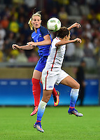 Belo Horizonte, Brazil - Saturday, August 6, 2016: The USWNT and France are all even 0-0 in second half action in Group G play during the 2016 Olympics at Mineirão stadium.