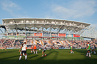 USWNT during warmups. The United States (USA) women defeated China PR (CHN) 4-1 during an international friendly at PPL Park in Chester, PA, on May 27, 2012.