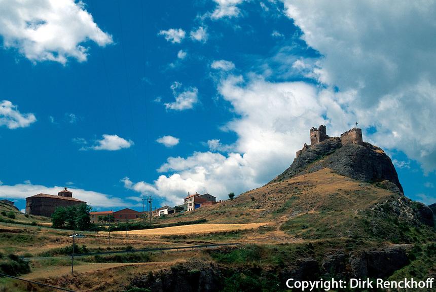 Spanien, La Rioja, Clavijo, Burgruine.