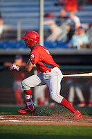 Williamsport Crosscutters shortstop Arquimedes Gamboa (4) at bat during a game against the Auburn Doubledays on June 25, 2016 at Falcon Park in Auburn, New York.  Auburn defeated Williamsport 5-4.  (Mike Janes/Four Seam Images)