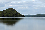 A small portion of the Quabbin Reservoir as seen near the Goodnough dike on the eastern side of the man-made body of drinking water in Massachusetts.