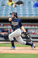 Jonathan India (5) of America Heritage School (5) of Delray in Coral Springs, Florida playing for the Tampa Bay Rays scout team during the East Coast Pro Showcase on July 31, 2014 at NBT Bank Stadium in Syracuse, New York.  (Mike Janes/Four Seam Images)