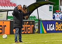 TUNJA - COLOMBIA, 18-07-2021:  Jorge Luis Bernal técnico Patriotas durante partido por la fecha 1 entre Patriotas Boyacá y Atletico Bucaramanga como parte de la Liga BetPlay DIMAYOR II 2021 jugado en el estadio La Libertad de la ciudad de Tunja. / Jorge Luis Bernal coach of Patriotas during match for the date 1 between Patriotas Boyaca and Atletico Bucaramanga as a part BetPlay DIMAYOR League II 2021 played at La Independencia stadium in Tunja city. Photo: VizzorImage / Edward Leguizamon / Contribuidor