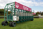 LONGCHAMP, FRANCE - October 06, 2018: Starting Gate for the Meeting around the Qatar Prix de l'Arc de Triomphe at Longchamp race track.