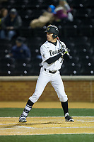 Nick DiPonzio (7) of the Wake Forest Demon Deacons at bat against the Kent State Golden Flashes in game two of a double-header at David F. Couch Ballpark on March 4, 2017 in Winston-Salem, North Carolina.  The Demon Deacons defeated the Golden Flashes 5-0.  (Brian Westerholt/Four Seam Images)
