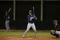 AZL Padres 2 center fielder Tirso Ornelas (33) at bat against the AZL Diamondbacks on August 29, 2017 at Salt River Fields at Talking Stick in Scottsdale, Arizona. AZL Diamondbacks defeated the AZL Padres 2 4-3. (Zachary Lucy/Four Seam Images)