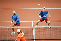 23-9-06,Leiden, Daviscup Netherlands-Tsjech Republic, doubles, Berdych and Damm(l)