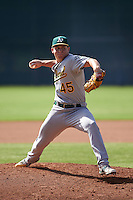 Oakland Athletics pitcher Dustin Driver (45) during an instructional league game against the San Francisco Giants on October 12, 2015 at the Giants Baseball Complex in Scottsdale, Arizona.  (Mike Janes/Four Seam Images)