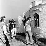 Beatles 1967 John Lennon films Magical Mystery Tour at Newquay Neil Aspinall and George Harrison at left...© Chris Walter..