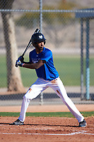 Quincey Littlejohn-Docken (44), from Long Lake, Minnesota, while playing for the Dodgers during the Under Armour Baseball Factory Recruiting Classic at Red Mountain Baseball Complex on December 28, 2017 in Mesa, Arizona. (Zachary Lucy/Four Seam Images)