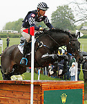 LEXINGTON, KY - APRIL 30: #45 Shamwari 4 and Boyd Martin compete in the Cross Country Test for the Rolex Kentucky 3-Day Event at the Kentucky Horse Park.  April 30, 2016 in Lexington, Kentucky. (Photo by Candice Chavez/Eclipse Sportswire/Getty Images)