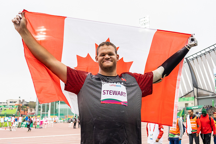 Gregory Stewart, Lima 2019 - Para Athletics // Para-athlétisme.<br /> Gregory Stewart competes in men's shot put F46. // Gregory Stewart participe au lancer du poids masculin F46.25/08/2019.