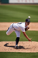 Detroit Tigers pitcher Garrett Hill (72) during a Minor League Spring Training game against the Baltimore Orioles on April 14, 2021 at Joker Marchant Stadium in Lakeland, Florida.  (Mike Janes/Four Seam Images)