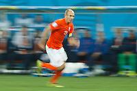 Motion blur of Arjen Robben of the Netherlands