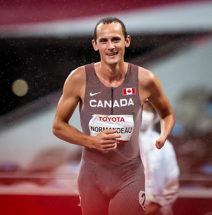 Thomas Normandeau, Tokyo 2020 - Para Athletics // Para-athlétisme.<br /> Thomas Normandeau competes in the men's 400m T47 final // Thomas Normandeau participe à la finale du 400m T47 masculin. 04/09/2021.