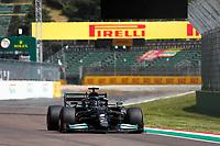 17th April 2021; Autodromo Enzo and Dino Ferrari, Imola, Italy; F1 Grand Prix of Emilia Romagna, Qualifying sessions;   44 Lewis Hamilton GBR, Mercedes-AMG Petronas F1 Team takes pole position