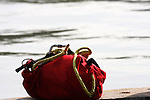 Dive team search and rescue rope bag ready to use in a search dive effort