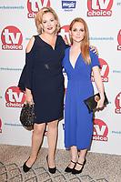 Sara Stewart and Olivia Hallinan<br /> arriving for the TV Choice Awards 2017 at The Dorchester Hotel, London. <br /> <br /> <br /> ©Ash Knotek  D3303  04/09/2017