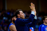 Saints coach Zico Coronel during the National Basketball League Final Four final between Wellington Saints and Hawkes Bay Hawks at Te Rauparaha Arena in Porirua, New Zealand on Friday, 23 July 2021. Photo: Dave Lintott / lintottphoto.co.nz
