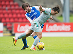 St Johnstone v Hartlepool…22.07.17… McDiarmid Park… Pre-Season Friendly<br />Jack Munns and Murray Davidson battle<br />Picture by Graeme Hart.<br />Copyright Perthshire Picture Agency<br />Tel: 01738 623350  Mobile: 07990 594431