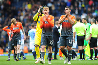 Jay Fulton and Cameron Carter-Vickers of Swansea City applauds the fans at the final whistle during the Sky Bet Championship match between Blackburn Rovers and Swansea City at Ewood Park in Blackburn, England, UK. Sunday 5th May 2019