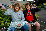 """Brian O'Shea and Luke Fitzgerald from Currans are doing a """"Hair Today Gone in October"""" fundraiser  for Kerry Parents and Friends Association. L to r: Brian O'Shea and Luke Fitzgerald."""