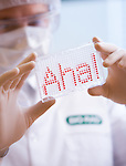 Biotechnology image for annual report; annual report photographer