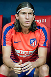 Filipe Luis of Atletico de Madrid looks on prior to the La Liga 2018-19 match between Atletico de Madrid and Rayo Vallecano at Wanda Metropolitano on August 25 2018 in Madrid, Spain. Photo by Diego Souto / Power Sport Images