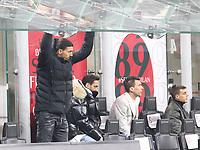 Milano 03-03-2021<br /> Stadio Giuseppe Meazza<br /> Serie A  Tim 2020/21<br /> Milan - Udinese<br /> nella foto:Zlatan Ibraimovic                                                         <br />  Antonio Saia