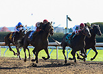November 6, 2020: Rocketry, ridden by Irad Ortiz, Jr., pulls ahead in the Thoroughbred Aftercare Alliance Stakes on Breeders' Cup Championship Friday at Keeneland on November 6, 2020: in Lexington, Kentucky. Bill Denver/Eclipse Sportswire/CSM