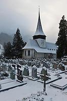 Europe/Suisse/Pays d'Enhaut/Rougemont: L'église de Rougemont, de style roman, a été construite par les moines de Cluny au XIe siècl