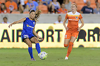 Houston, TX - Sunday Sept. 25, 2016: Rumi Utsugi, Janine Beckie during a regular season National Women's Soccer League (NWSL) match between the Houston Dash and the Seattle Reign FC at BBVA Compass Stadium.