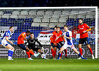 21st November 2020; Kenilworth Road, Luton, Bedfordshire, England; English Football League Championship Football, Luton Town versus Blackburn Rovers; Pelly Ruddock of Luton Town taking a shot at goal