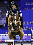 OMAHA, NEBRASKA - MAR 31: Guido Klatte jun. rides Qinghai during the FEI World Cup Jumping Final II at the CenturyLink Center on March 31, 2017 in Omaha, Nebraska. (Photo by Taylor Pence/Eclipse Sportswire/Getty Images)